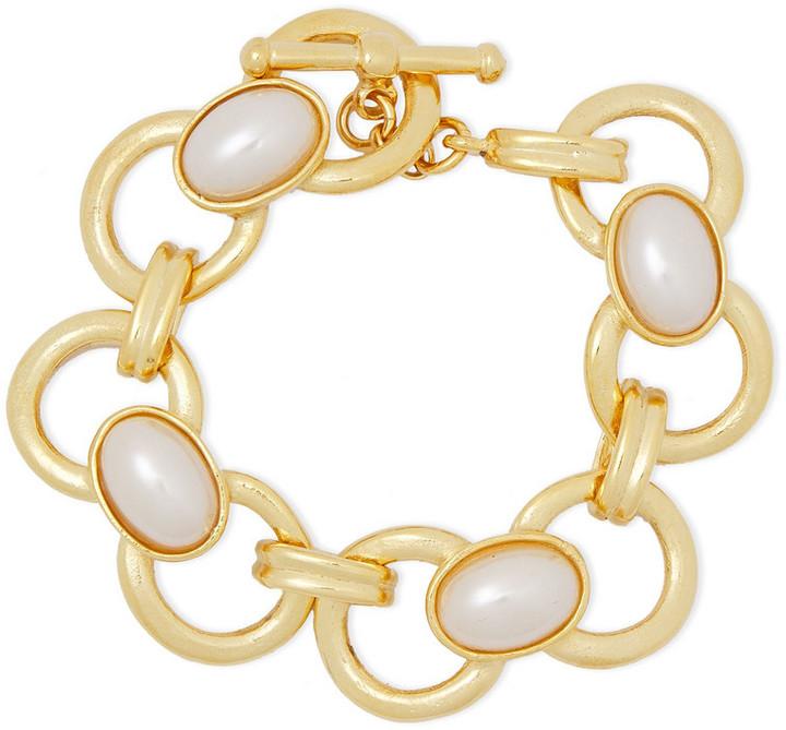 Ben-Amun 24-karat Gold-plated Faux Pearl Bracelet