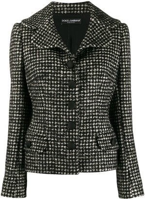 Dolce & Gabbana Tweed Fitted Jacket