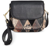Sam Edelman Ryan Mixed Media Saddle Bag