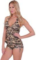 SHORE TRENDZ Women's Bikini Tankini & Shorts 2-Piece Swimwear: T (DD) B (XL)