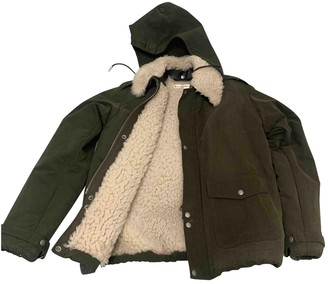 Saint Laurent Khaki Shearling Coats