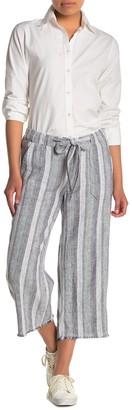 Caslon Striped Tie Waist Crop Pants (Regular & Petite)