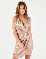 Lipsy Sleeveless Ruched Wrap Mini Dress