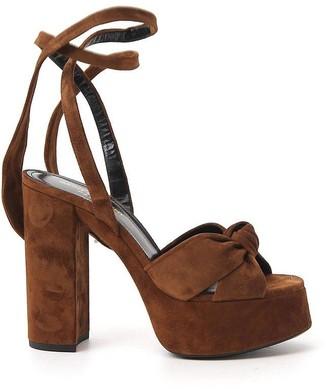 Saint Laurent Knot Detail Platform Sandals
