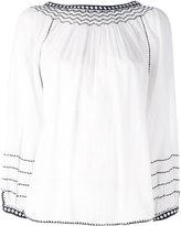 Masscob embroidered detail shift blouse - women - Cotton - XS