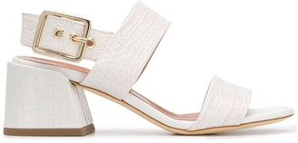 Twin-Set Croco-Effect Sandals