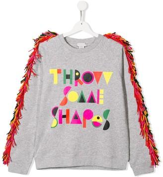 Stella McCartney TEEN throw some shapes print sweatshirt