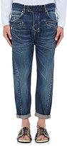 Balmain Men's Drop-Rise Crop Jeans-NAVY
