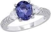 Bellini 1.80 cttw Tanzanite & 2/3 cttw Diamond Engagement Ring