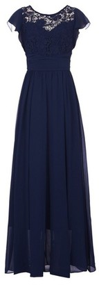 Dorothy Perkins Womens Jolie Moi Navy Crochet Maxi Dress