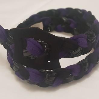 Parallèle Ungaro Purple Suede Belts