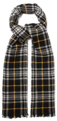 Isabel Marant Suzanne Checked Virgin Wool-blend Scarf - Womens - Black
