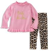 Kate Spade Girls' Ooh La La Ruffled Top & Leggings Set - Baby