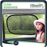 Ziscoo Car Sun Shade {2 Pack} Baby Car Sun Shade Blocks Over 97% of Harmful UV Rays and Protects Your Child From Sunlight and Glare - Static Cling Car Sunshades Fits Most Vehicles