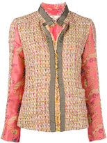 Etro open tweed jacket - women - Silk/Cotton/Ramie/Viscose - 42