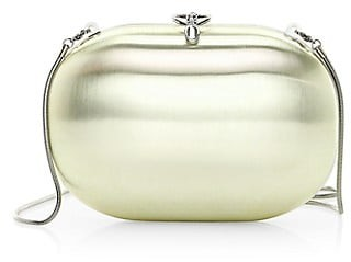 JEFFREY LEVINSON Elina 18K Goldplated Satin Clutch