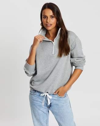 Cartel & Willow Tiebreak Zip-Up Sweater