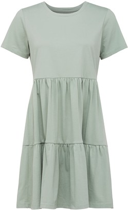 Forever New Sallie Smock T-Shirt Dress - Sage Green - 10