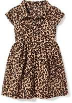 Old Navy Leopard-Print Shirt Dress for Baby