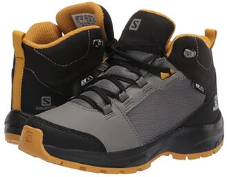 Salomon OUTward CSWP (Little Kid/Big Kid) (Castor Gray/Black/Arrowwood) Kid's Shoes