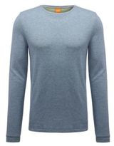 HUGO BOSS Wanna Cotton Melange Long Sleeve Shirt M Grey