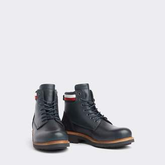 Tommy Hilfiger Icon Stripe Leather Boot
