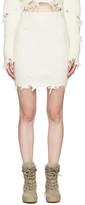 Yeezy Off-white Destroyed Bouclé Miniskirt