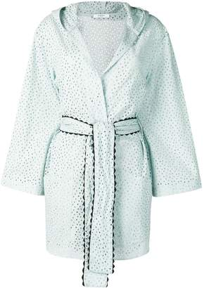 Marysia Swim embroidered wrap-around coat