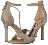 Badgley Mischka Erika (Platino Diamond Textile) Women's Shoes
