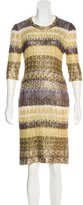 Oscar de la Renta Silk Open Knit Dress