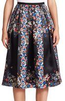 Erdem Ina Floral Silk Skirt