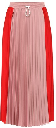 Moncler Pleated jersey midi skirt