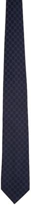 Gucci Navy Silk GG Tie