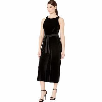 Gabby Skye Women's Belted Velvet Gaucho Jumpsuit