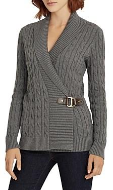 Ralph Lauren Ralph Cable Knit Buckled Sweater