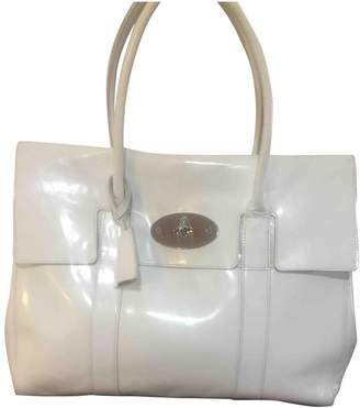 Mulberry Bayswater White Patent leather Handbags