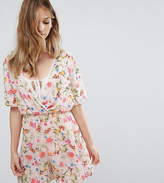 Oh My Love Tall Batwing Floral Playsuit