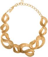 Oscar de la Renta twisted ribbon necklace