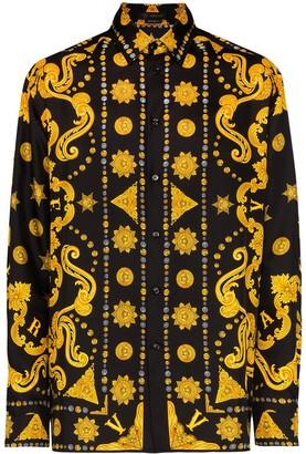 Versace Barocco Western print shirt