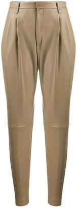 RED Valentino Tapered Leather Trousers