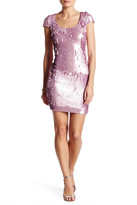 Dress the Population Gabriella Embellished Sequin Back Cutout Dress