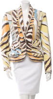 Just Cavalli Tiger Striped Shawl Collar Jacket