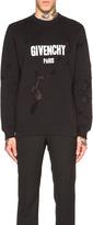 Givenchy Cuban Fit Destroyed Logo Print Sweatshirt
