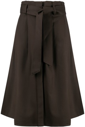P.A.R.O.S.H. belted A-line skirt