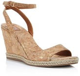 Tory Burch Marion Quilted Metallic Wedge Sandals