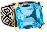 Konstantino Two-Tone Blue Topaz Ring