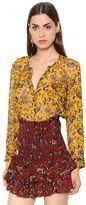 Etoile Isabel Marant Printed Silk Crépon Shirt