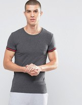 Emporio Armani Muscle Fit T-Shirt With Contrast Cuffs