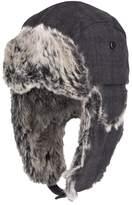 Dockers Men's Plaid Wool-Blend Faux-Fur Trapper Hat