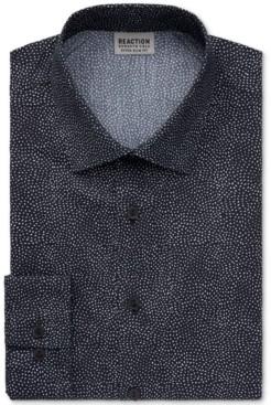 Kenneth Cole Reaction Men's Stay Crisp Extra-Slim Fit Performance Stretch Dot-Print Dress Shirt